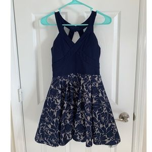 Crystal Doll fit and flare V-neck dress (size 9)